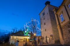 Marché de Noël, Zagreb, Croatie photos stock