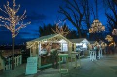 Marché de Noël, Zagreb, Croatie photographie stock libre de droits
