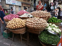 Marché de nourriture de Mumbai Photographie stock libre de droits