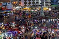 Marché de nuit de Dalat Photos libres de droits