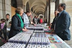 Marché de pièce de monnaie à Madrid Photos libres de droits
