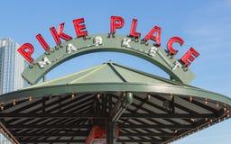 Marché de place de Pike Photographie stock libre de droits