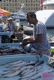 Marché de poissons à Hong Kong Photographie stock libre de droits
