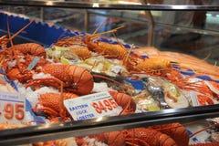 Marché de poissons à Hong Kong Photos libres de droits