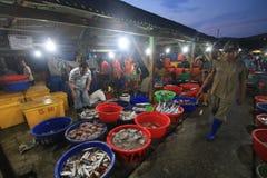 Marché de poissons à Hong Kong Photo libre de droits