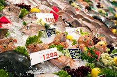 Marché de poissons Photos stock