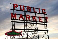 Marché de poissons de Seattle Photographie stock