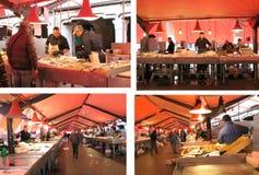 Marché de poissons italien Photo libre de droits
