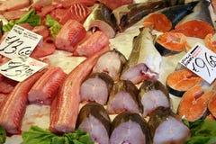 Marché de poissons près de Rialto, Venise Images libres de droits