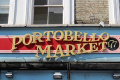 Marché de Portobello Photo stock