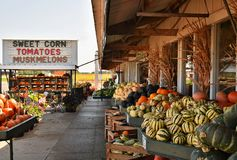 Marché de produits frais le long de route dans le Wisconsin, Etats-Unis Image stock