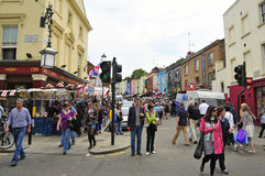 Marché de route de Portobello à Londres, Royaume-Uni Image libre de droits