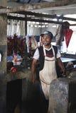 Marché de Sambava au Madagascar Photo libre de droits