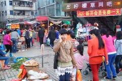 Marché de Shenzhen Xixiang Images libres de droits