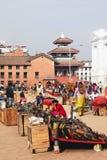 Marché de souvenir à Katmandu Photo stock