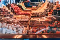 Marché de sucrerie de milieu de l'été photographie stock libre de droits