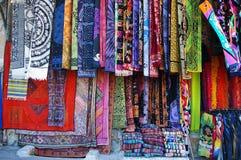 Marché de textile Photo libre de droits