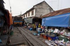 Marché de train Photographie stock