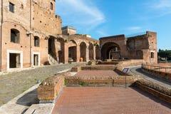 Marché de Trajan à Rome Image libre de droits