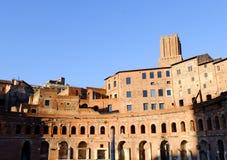 Marché de Trajans à Rome Photo stock