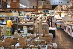 Marché de Tsukiji Photos libres de droits