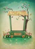 Marché de village illustration stock