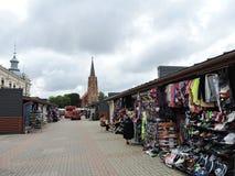 Marché de ville de Liepaja, Lettonie Image stock