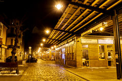 Marché de Women's par nuit à Sofia, Bulgarie Image stock