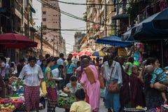 Marché de Yangon, Myanmar Photo stock