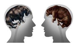Marché des affaires investissant la pensée illustration stock