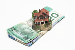 Marché du logement canadien et propriétaire de logement photo stock