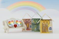 Marché du logement, un avenir prospère Images stock