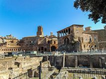Marché du ` s de Trajan à Rome, Italie images libres de droits
