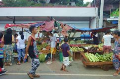 Marché en plein air à Manille Photos stock