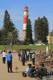 Marché en plein air africain de gens Namibie Photos libres de droits