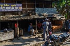 Marché en plein air au Népal Photo stock