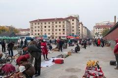 Marché en plein air chinois photo libre de droits