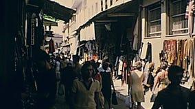 Marché en plein air d'Athènes banque de vidéos