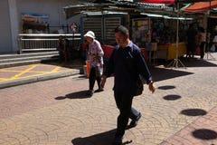 Marché en plein air dans la rue de Chinatown Petaling Images stock