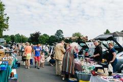 Marché en plein air dans Winchester Photographie stock libre de droits