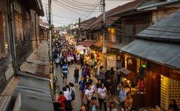 Marché en plein air de marche Chiang Khan Loei Thailand Photos libres de droits