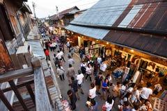 Marché en plein air de marche Chiang Khan Loei Thailand Photographie stock