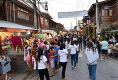 Marché en plein air de marche Chiang Khan Loei Thailand Image libre de droits