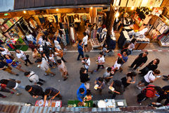 Marché en plein air de marche Chiang Khan Loei Thailand Photo stock