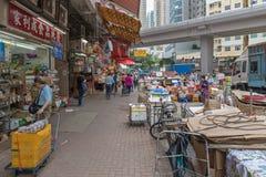Marché en plein air de Mong_Kok Photo libre de droits