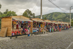 Marché en plein air de Panecillo Quito Equateur photos libres de droits
