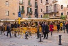 Marché en plein air de samedi Barcelone Images libres de droits