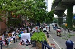 Marché en plein air en Chine Image libre de droits