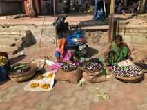 Marché en plein air indien informel Image libre de droits