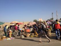Marché en plein air, Ne Djamena, Tchad Image stock